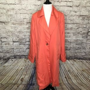 Soft Surroundings Coral Town & Country Trench Coat